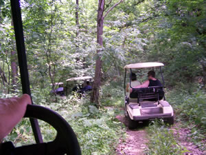 Golf Carting at Pheasant Ridge